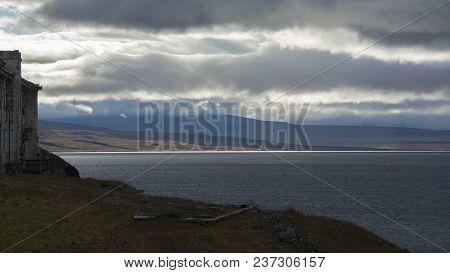 Grumant settlement at Svalbard, Spitzbergen in Norway poster