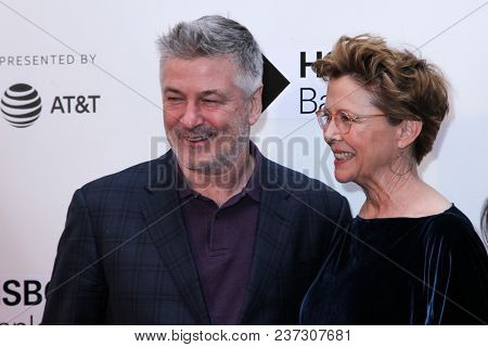 NEW YORK, NY - APRIL 21: Alec Baldwin and Anette Bening attends 'The Seagull' premiere during the 2018 Tribeca Film Festival at BMCC Tribeca PAC on April 21, 2018 in New York City.