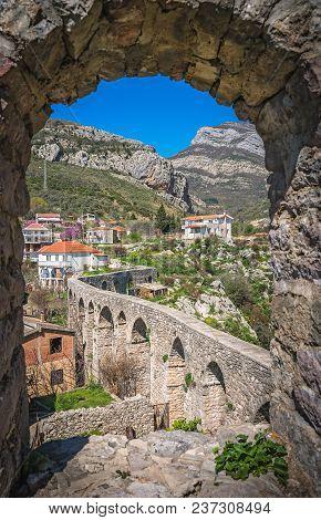 Remains Of Aqueduct In Stari Bar Town Near Bar City, Montenegro