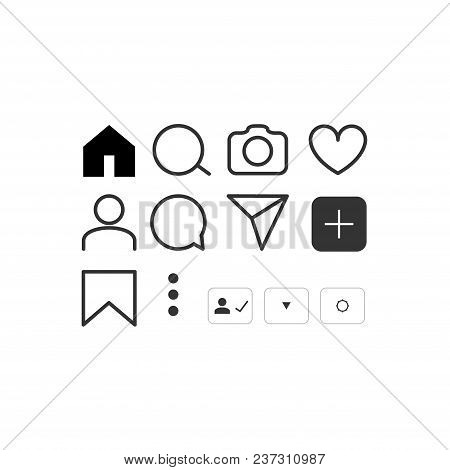 Social Network Vector Icon Set. Social Media People Symbol Element.