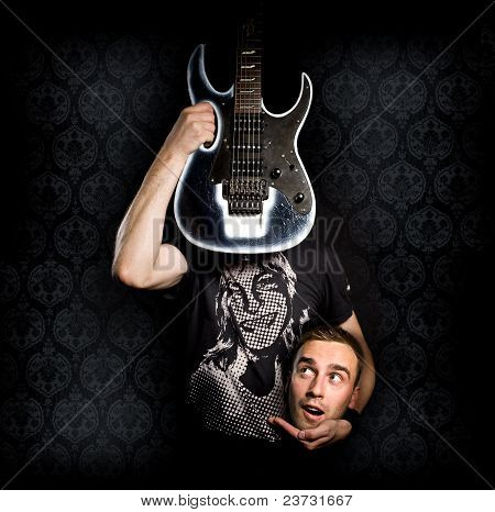 Guitarist With His Head Cut Off