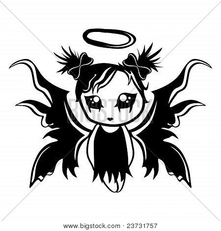 Little angel girl vector