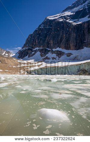 Glacial Lake Below Mt. Edith Cavell, Jasper National Park, Alberta, Canada