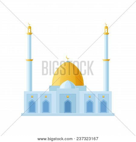 Great Building Of The Mosque. World Sight, Architectural Building Of Moslems, Mosque. Traditional Ar