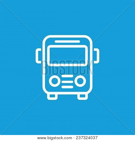 Line Icon Of Bus Sign. Bus Station, School Bus, Passenger Transportation. Transport Concept. Can Be