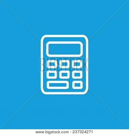 Icon Of Calculator. Modern Technology, Device, Office Tool. Finance Concept. Can Be Used For Topics