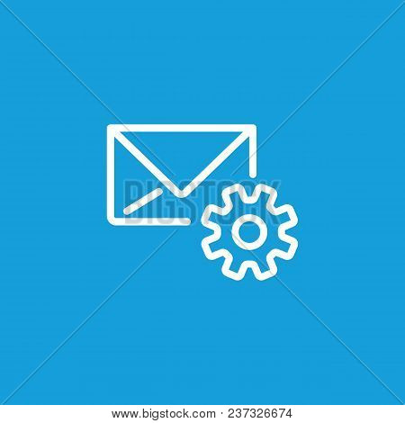 Icon Of Email Configuration. Mail Setting, Gear Wheel, Letter, Cog. Mail Options Concept. Can Be Use