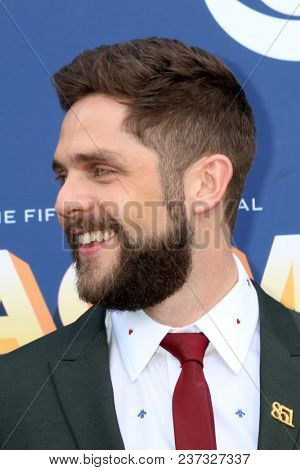 LAS VEGAS - APR 15:  Thomas Rhett at the Academy of Country Music Awards 2018 at MGM Grand Garden Arena on April 15, 2018 in Las Vegas, NV