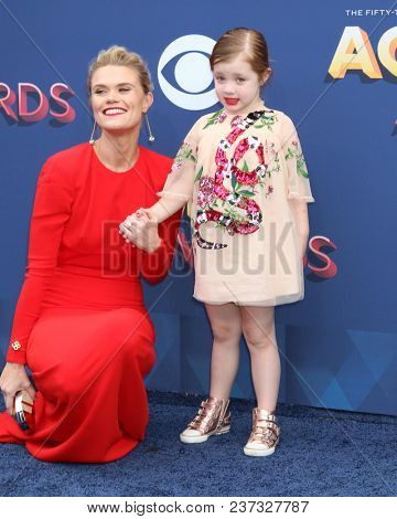 LAS VEGAS - APR 15:  Nicolle Galyon, Charlie Jo Clawson at the Academy of Country Music Awards 2018 at MGM Grand Garden Arena on April 15, 2018 in Las Vegas, NV