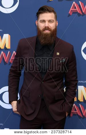 LAS VEGAS - APR 15:  Jordan Davis at the Academy of Country Music Awards 2018 at MGM Grand Garden Arena on April 15, 2018 in Las Vegas, NV