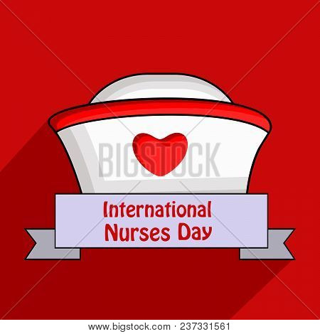 Illustration Of Nurses Cap And Heart With International Nurses Day Text On The Occasion Of Internati