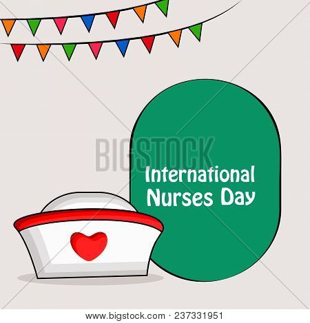 Illustration Of Nurses Cap And Banner With International Nurses Day Text On The Occasion Of Internat