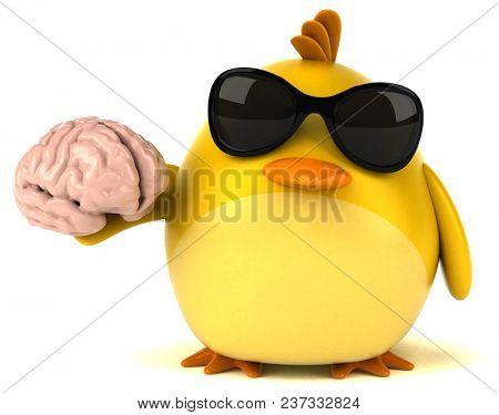Yellow bird - 3D Illustration