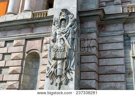 Russia, Saint Petersburg - August 18, 2017: Decorative Architectural Decorations Of The Saint Michae