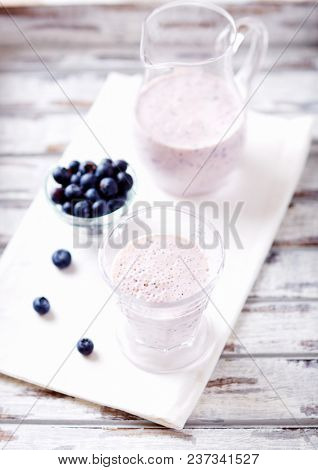 Bilberry Smoothie in a Glass