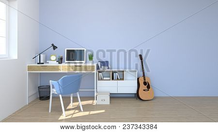 Chairs And Tables Are In The Room Interior 3d Rendering Back To School Background Shelves And Books
