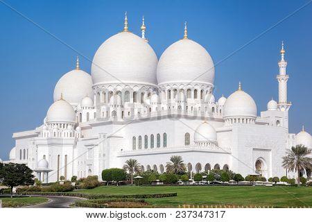 Sheikh Zayed Grand Mosque With In Abu-dhabi, United Arab Emirates