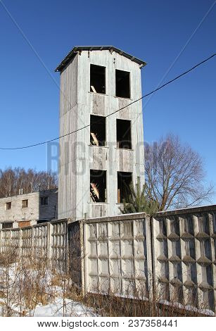 Old Tower For Drying Fire Hoses. Russia