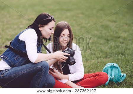 A Professional Photographer Performs His Work