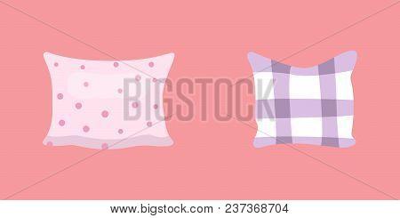 Set Cool Pillows Vector Illusration In Cartoon Style
