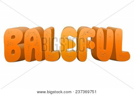 Baleful Text For Title Or Headline In 3d Style With Small Holes In The Letters