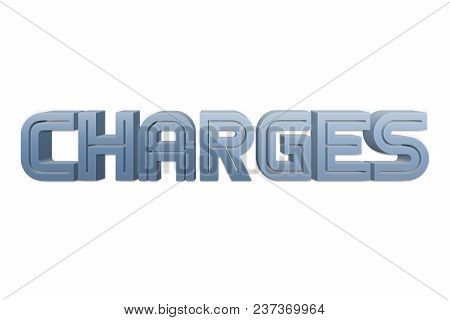 Charges Text For Title Or Headline In 3d Style With Re Thin Cut Letters