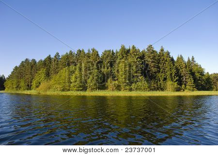 Island On Lake Seliger