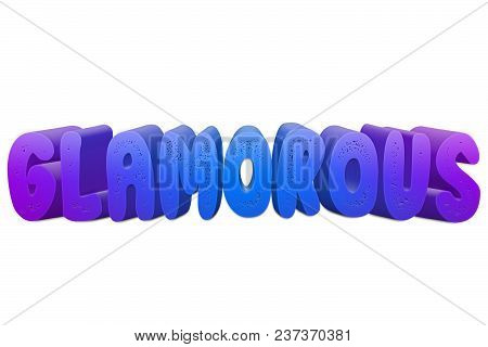 Glamorous Text For Title Or Headline In 3d Style With Small Holes In The Letters