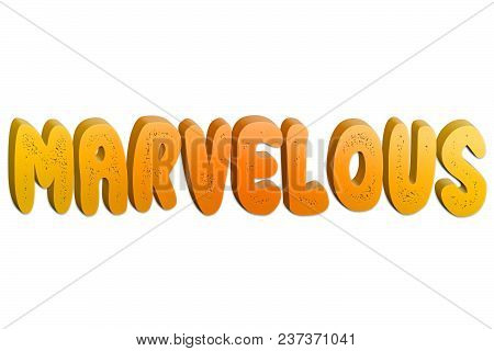 Marvelous Text For Title Or Headline In 3d Style With Small Holes In The Letters