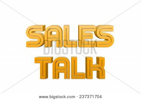 Sales Talk Text For Title Or Headline In 3d Style With Re Thin Cut Letters