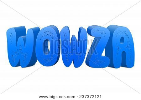 Wowza Text For Title Or Headline In 3d Style With Small Holes In The Letters