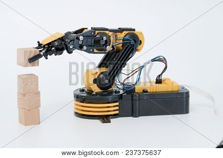 Plastic robot arm model