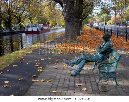 Statue Of Patrick Kavanagh By The Grand Canal, Dublin