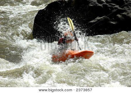 Kayaker Gettin A Face Shot