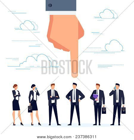 Hr Concept. Hand Points To The Candidate. Job Search And Selection Of Candidates For Vacancies, Temp
