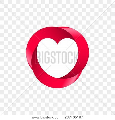 Heart Logo Vector Infinity Loop Icon. Isolated Modern Heart Symbol For Cardiology Medical Center Or