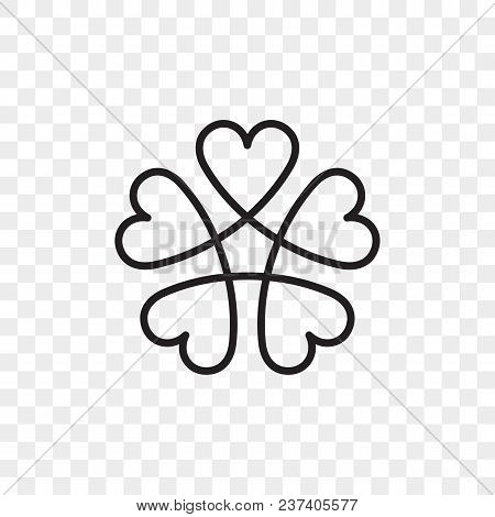 Heart Logo Vector Icon. Isolated Modern Abstract Line Black Heart Flower Symbol For Cardiology Medic