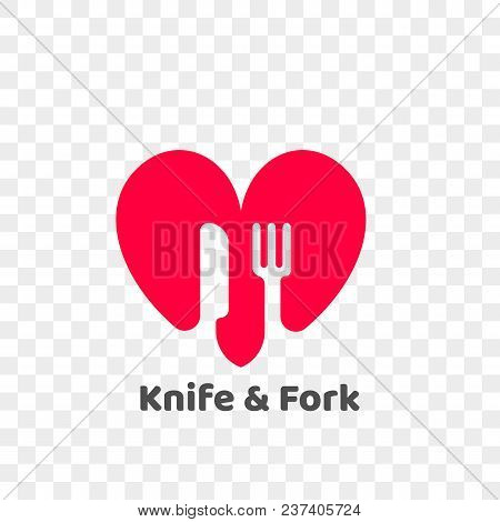 Heart Logo Icon For Healthy Food And Diet Or Vegetarian Nutrition Supplement And Vitamins. Vector Is