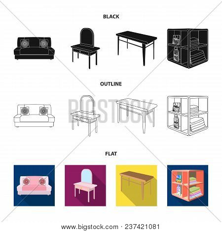 Soft Sofa, Toilet Make-up Table, Dining Table, Shelving For Laundry And Detergent. Furniture And Int