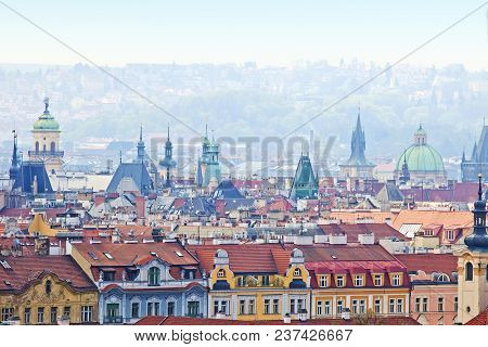 Czech Republic, Prague - Spires Of The Old Town.