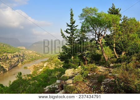 Goksu River Landscape, Turkey. Place Where In 1190, While On The Third Crusade, Emperor Frederick Ba