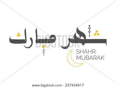Ramadan Kareem Arabic Calligraphy. Vector Text. Happy Ramadhan Islamic Holiday Lettering. Greeting Card for Holy Month Ramadan. Traditional Vector Ramazan Logo. Abstract Background. Isolated on White. poster