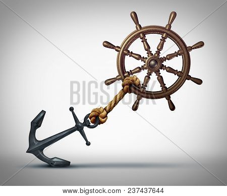 Business Direction Struggle And Success Effort To Steer And Navigate Towards Success As A Ship Wheel