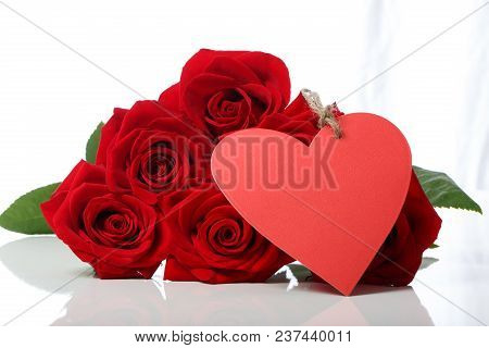 Valentine's Day Concept Theme With Roses