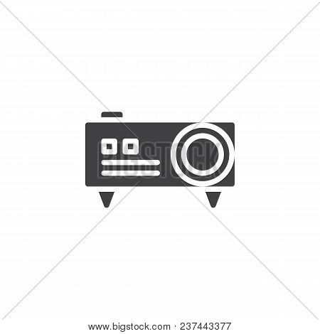 Video Projector Vector Icon. Filled Flat Sign For Mobile Concept And Web Design. Digital Projector S