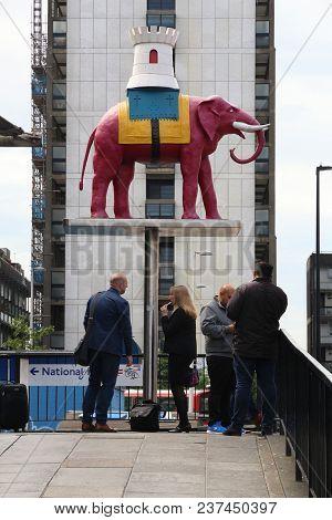 London, Uk - July 7, 2016: People Visit Elephant And Castle Area In Southwark, London, Uk. London Is