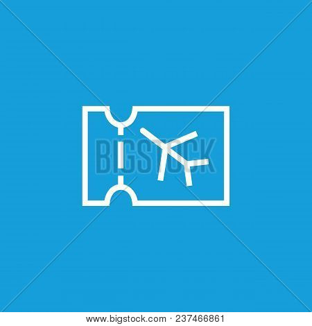 Line Icon Of Plane Ticket. Flight, Ticket Control, Air Ticket Office. Transport And Travel Concept.
