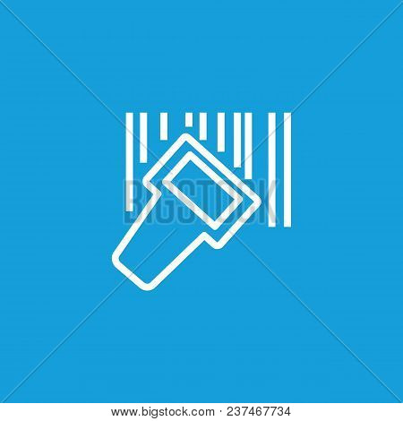Icon Of Qr Code Reader. Barcode, Identification, Discount. Scanner Concept. Can Be Used For Topics L