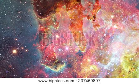 Abstract Scientific Background - Galaxy And Nebula In Space. Elements Of This Image Furnished By Nas