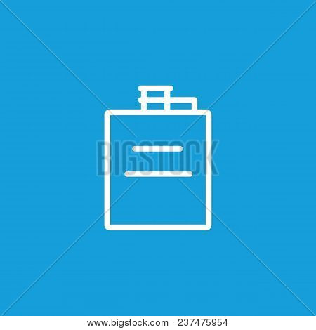 Icon Of Hip Flask. Whiskey, Hard Liquor, Bottle. Whiskey And Bar Concept. Can Be Used For Topics Lik